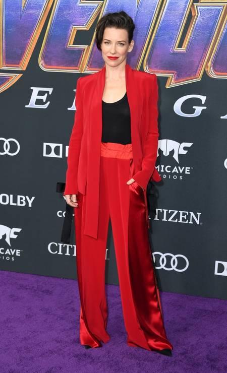 Evangeline Lilly, a Vespa Foto: VALERIE MACON / AFP