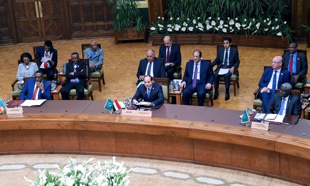 Presidente egípcio, Abdel Fattah al-Sisi comparece à reunião consultiva da União Africana sobre o Sudão Foto: Presidência do Egito 23-04-2019 / REUTERS