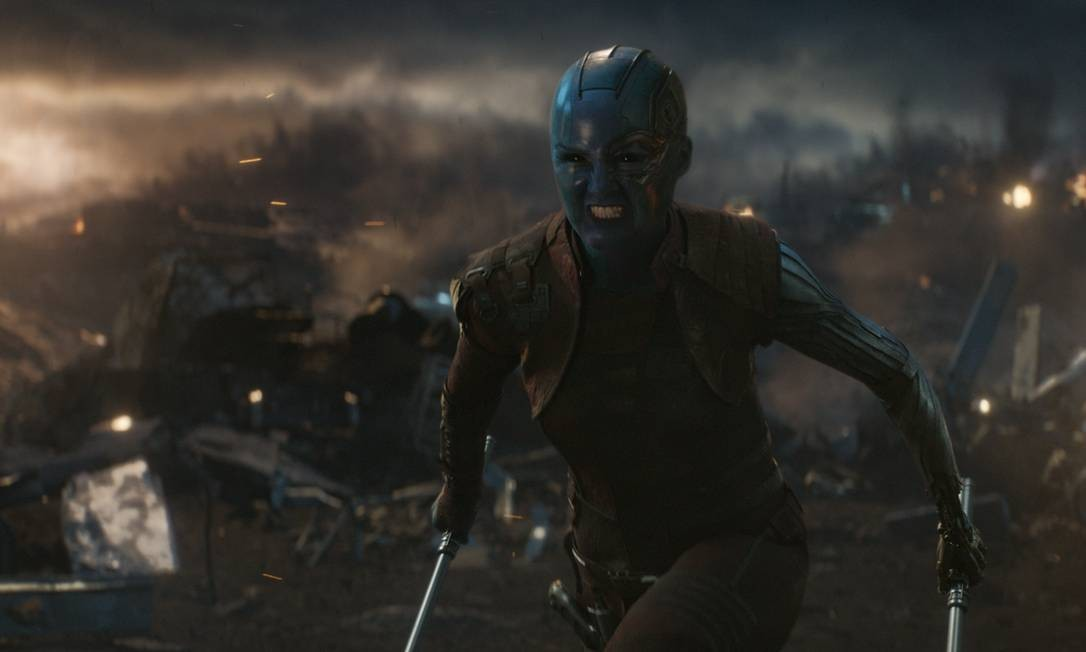 Nebula (Karen Gillan) é uma das filhas do vilão Thanos Foto: null / Marvel Studios