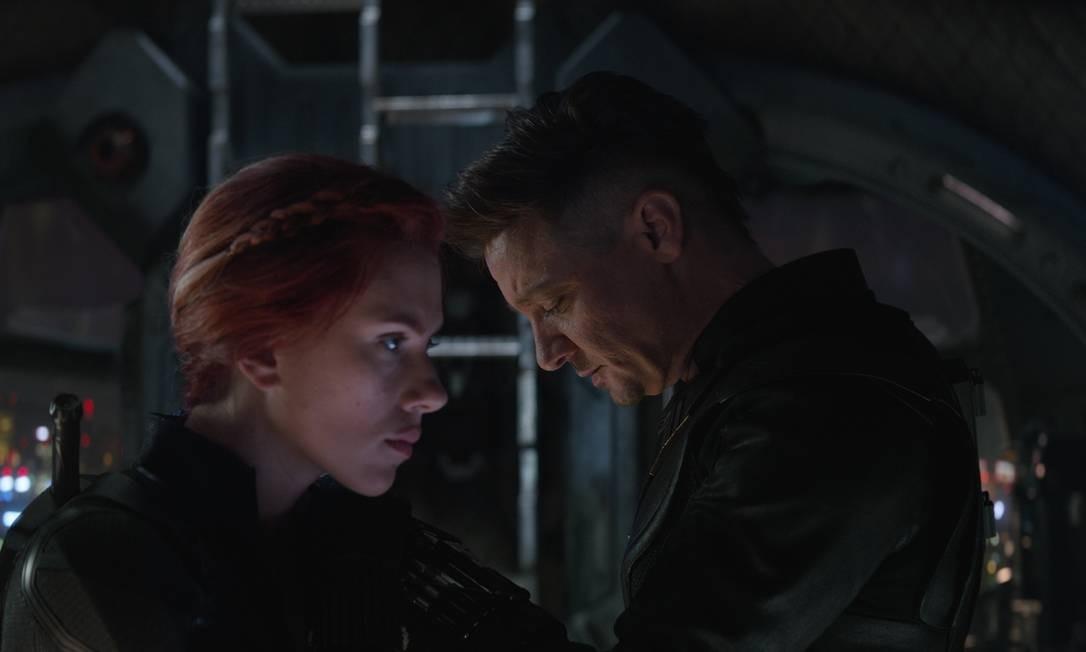 Viúva Negra (Scarlett Johansson) e Gavião Arqueiro (Jeremy Renner) Foto: Marvel Studios