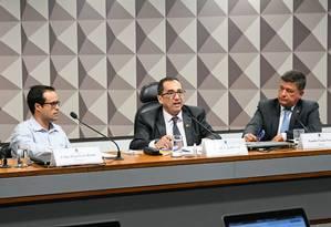 Ex-diretor da Vale Felipe Figueiredo Rocha (à esq.) diz que diretores sabiam de riscos de barragem de Brumadinho Foto: Agência Senado