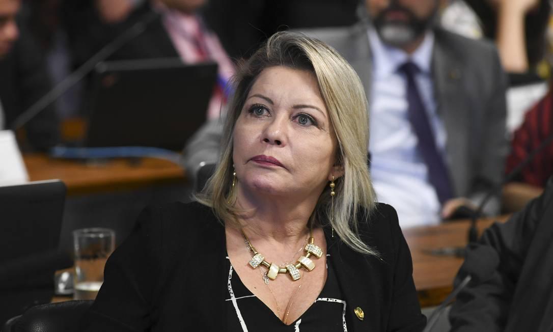 A senadora Selma Arruda (PSL-MT) Foto: Jefferson Rudy / Agência Senado