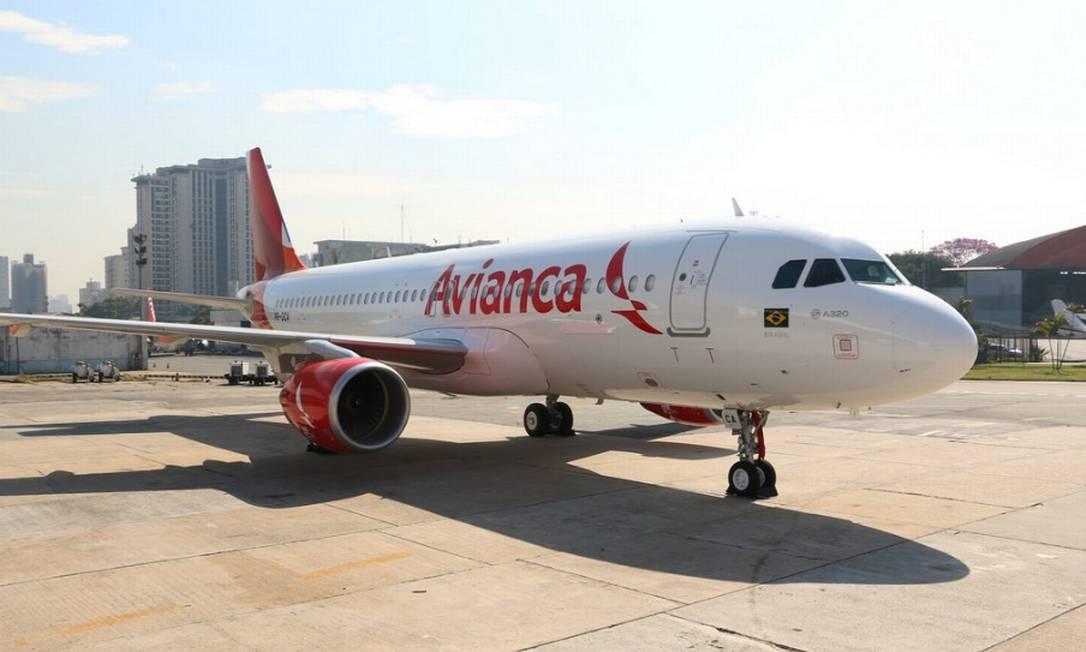 Avião da Avianca, que está em recuperação judicial Foto: . / Divulgação