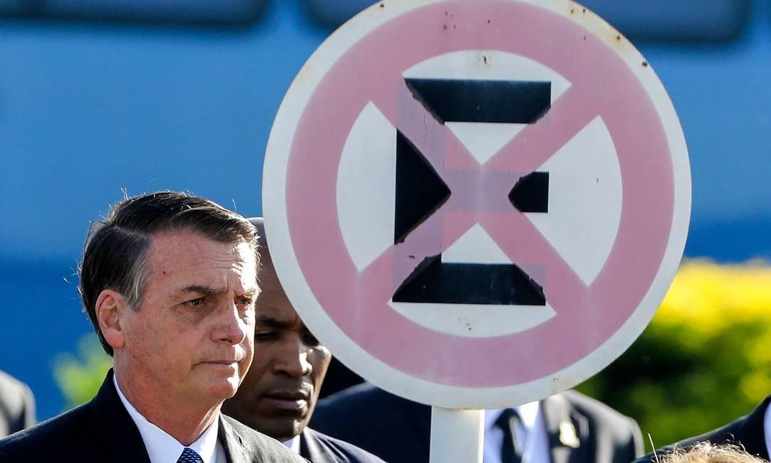O presidente Jair Bolsonaro em cerimônia no Palácio da AlvoradaFoto: SERGIO LIMA / AFP