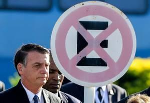 O presidente Jair Bolsonaro em cerimônia no Palácio da Alvorada Foto: SERGIO LIMA / AFP