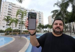 Luis Marques é síndico profissional do condominio Jardins do Recreio Foto: Guilherme Pinto / Agência O Globo