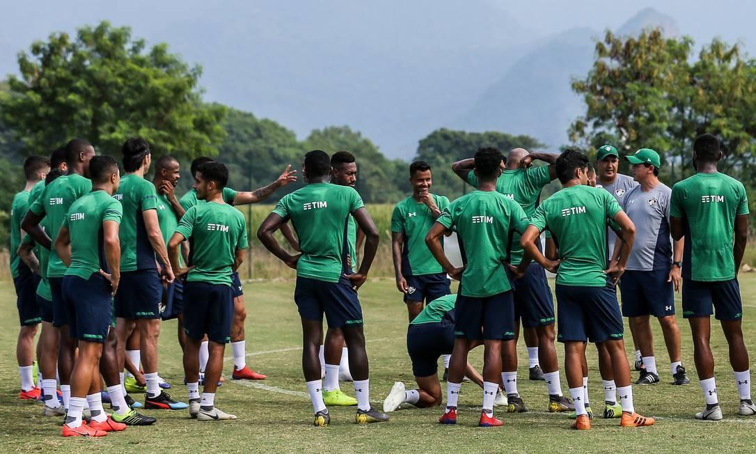 Fluminense conta com boa fase de sua defesa para avançar na Copa do Brasil Foto: Lucas Merçon/Fluminense
