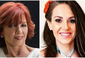 Nora Roberts (esquerda) processa Cristiane Serruya Foto: Facebook / Reprodução