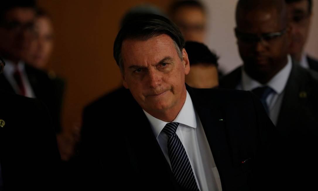 Jair Bolsonaro em cerimônia no Palácio do Planalto Foto: ADRIANO MACHADO / REUTERS