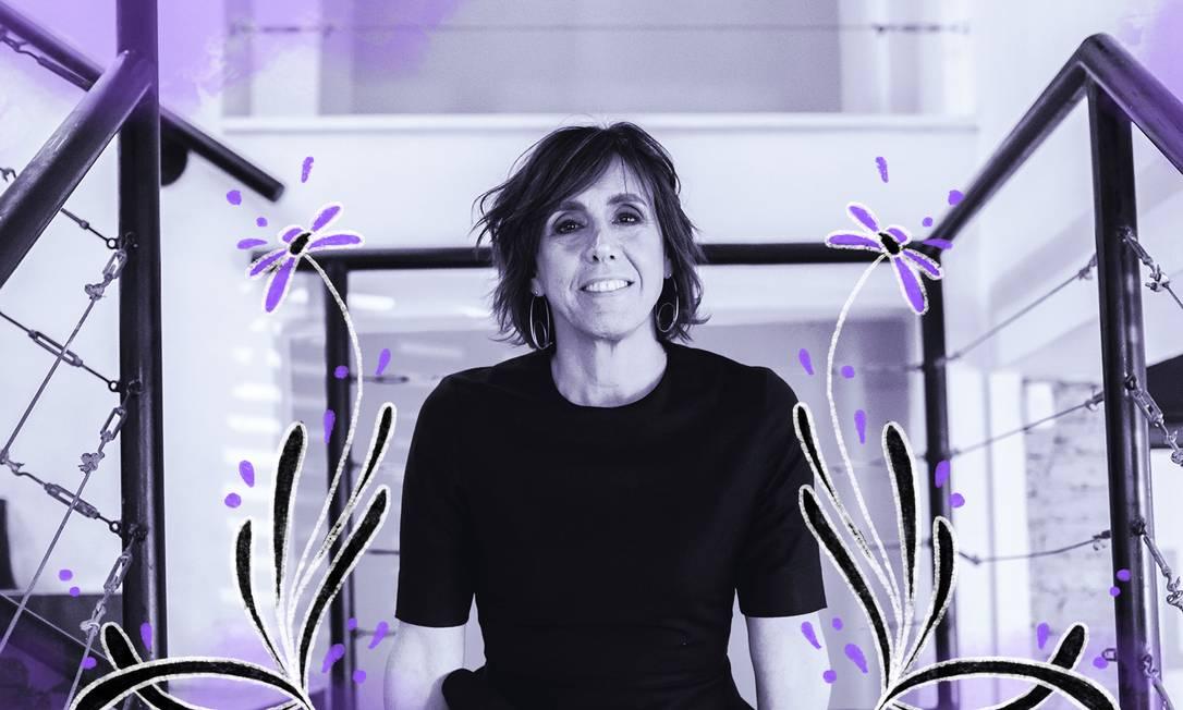 A designer carioca Ana Couto renovou a marca da CBF Foto: Arte de Luiz Lopes sobre foto divulgação