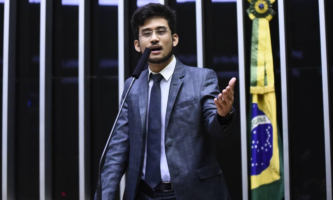 O deputado Kim Kataguiri (DEM-SP), relator de um projeto de lei que facilita o licenciamento ambiental Foto: Agência O Globo