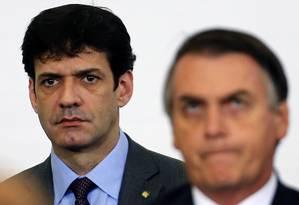 O ministro de Turismo, Marcelo Álvaro Antônio, e o presidente Jair Bolsonaro Foto: Jorge William / Agência O Globo