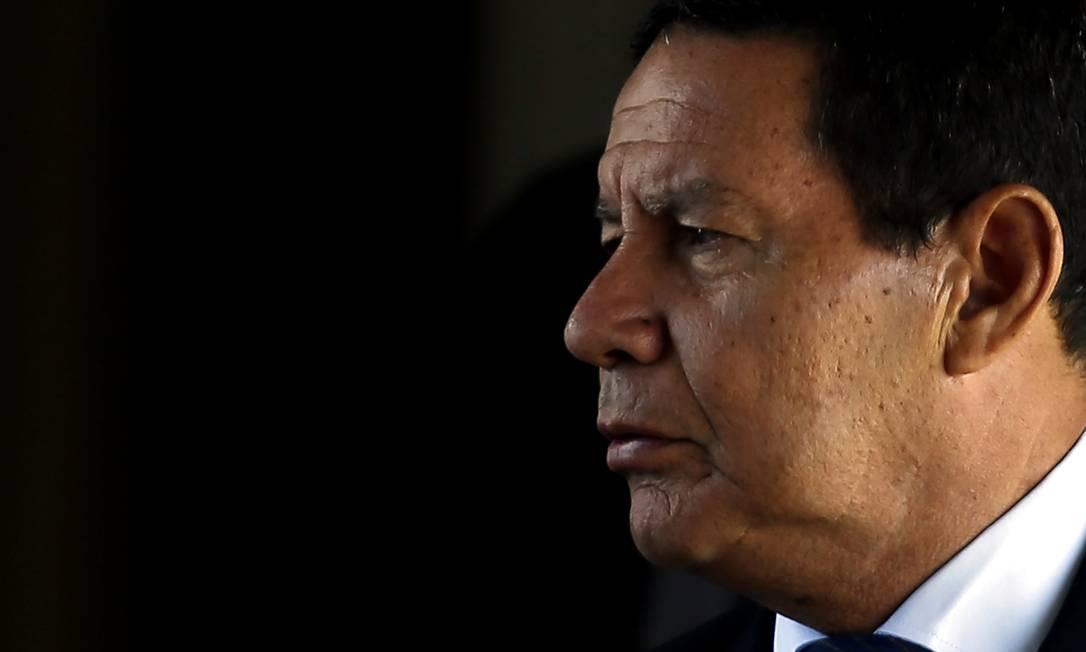 O vice-presidente Hamilton Mourão Foto: Jorge William / Agência O Globo
