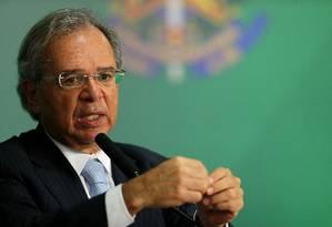 Guedes: saia justa com deputados. Foto: Jorge William / Agência O Globo