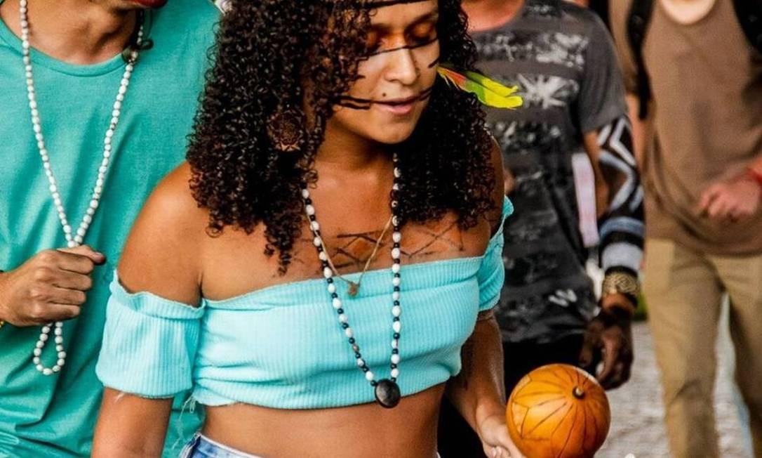 Laís dos Santos estuda Ciências Sociais na USP e é da etnia Maxakali Foto: Acervo Pessoal