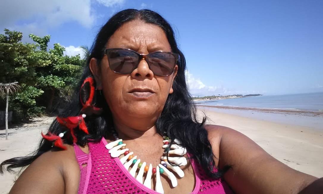 Cacique MariaArianPataxó da Aldeia Dois Irmãos, em Prado, na Bahia Foto: Acervo Pessoal