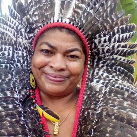 Maria Bárbara de Oliveira representa as mulheres Pankararu, de Pernambuco Foto: Acervo Pessoal