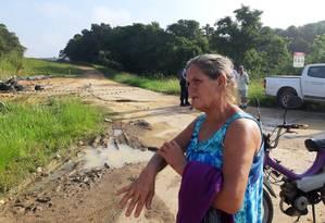 Maria Medeiros Peres lembra o susto com o vazamento Foto: Diego Amorim / Agência O Globo
