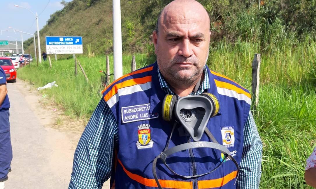 O secretário municipal de Defesa Civil de Duque de Caxias, André Luis Gomes Xavier Foto: Diego Amorim / Agência O Globo
