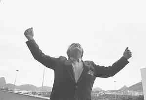 Darcy Ribeiro, em 1986 Foto: Alberto Jacob / Agência O Globo