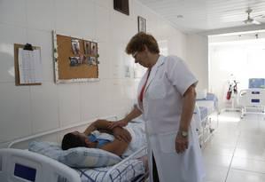 Atendimento. Instituição assiste pacientes com o vírus HIV e seus familiares Foto: Fábio Guimarães / Agência O Globo