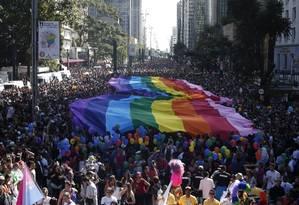 Parada do Orgulho LGBT em São Paulo reúne milhares de pessoas 18/06/2017 Foto: Marcos Alves / Agência O Globo