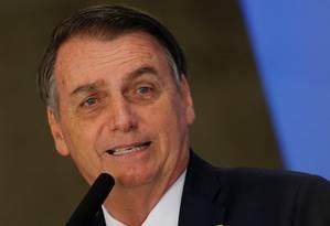 O presidente Jair Bolsonaro Foto: ADRIANO MACHADO / REUTERS