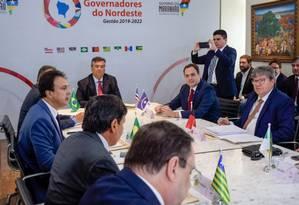 Fórum de Governadores do Nordeste, em São Luís Foto: Karlos Geromy/ Divulgação