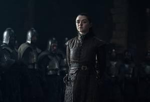 Arya Stark (Maisie Williams) em 'Game of Thrones': personagem é decisiva na batalha de Winterfell Foto: Divulgação