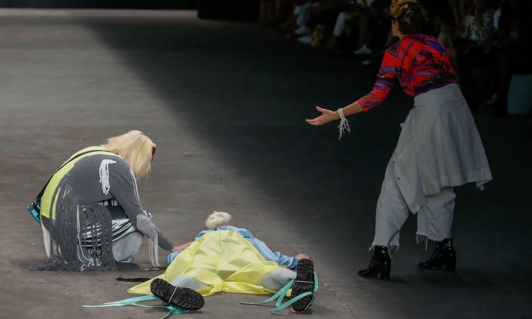 Tales Cotta morreu após um mal súbito durante desfile na São Paulo Fashion Week Foto: Alexandre Schneider / Getty Images
