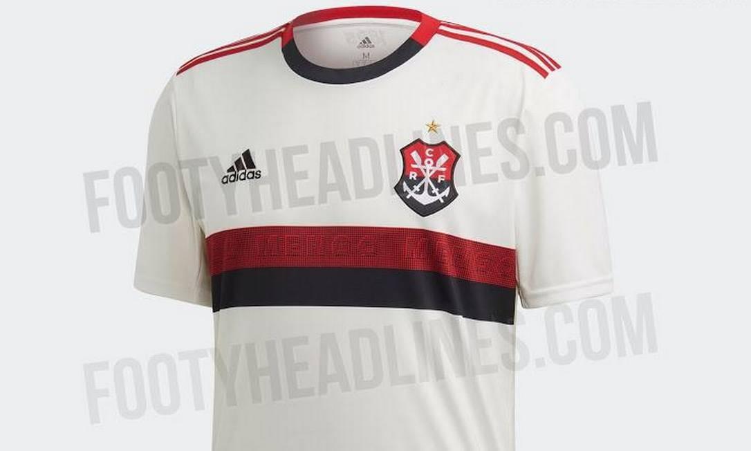 862a8216539 Vazam novas imagens da camisa 2 do Flamengo com  Mengo  escrito em ...