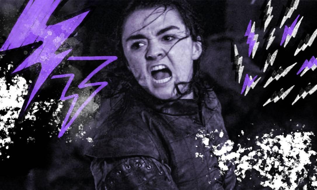 Nem dragões, nem guerreiros: Arya Stark foi a verdadeira heroína da Batalha de Winterfell Foto: Arte sobre foto reprodução