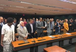 Frente parlamentar evangélica em culto na Câmara Foto: Eduardo Barretto/Época