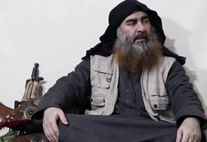 Líder do Estado Islâmico, Abu Bakr al-Baghdadi reaparece em vídeo do grupo após cinco anos para exaltar que ataques do Sri Lanka foram resposta à batalha de Banghouz, na Síria. Analistas apontam que Baghdadi tentou mobilizar extremistas para nova fase do grupo Foto: 29-04-2019 / Reprodução