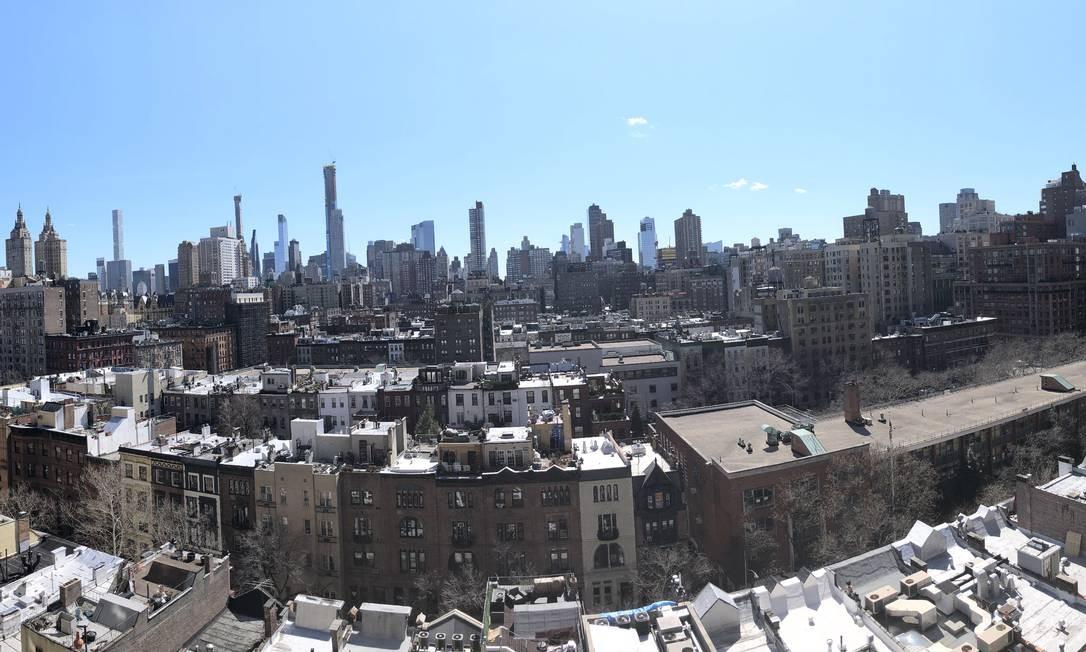 A vista do apartamento, localizado no Upper West Side, em Manhattan. Foto: James Cimino / Agência O Globo