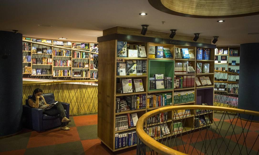 Queda do mercado de livros foi de 4,5% em 2018 Foto: Guito Moreto / Agência O Globo