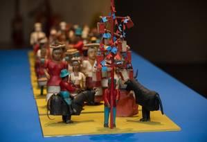 Obras de arte popular foram recuperadas no Museu Casa do Pontal Foto: Andre Telles