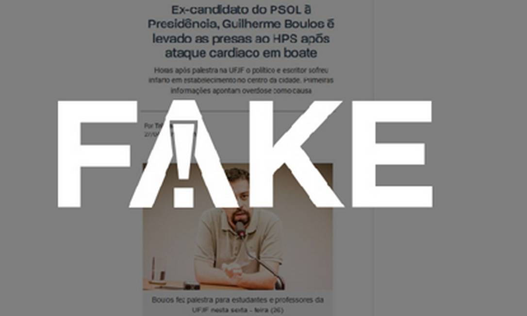 Informação sobre Boulos é Fake. Foto: Fato ou Fake
