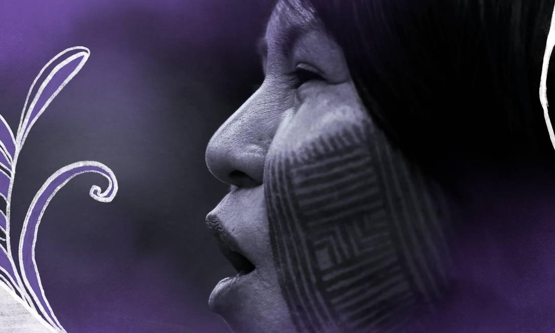 Quais são as reivindicações das indígenas? Perguntamos a mulheres de diversas etnias quais são as pautas prioritárias na luta por direitos e igualdade Foto: Arte de Carolina Oyama sobre foto da Reuters