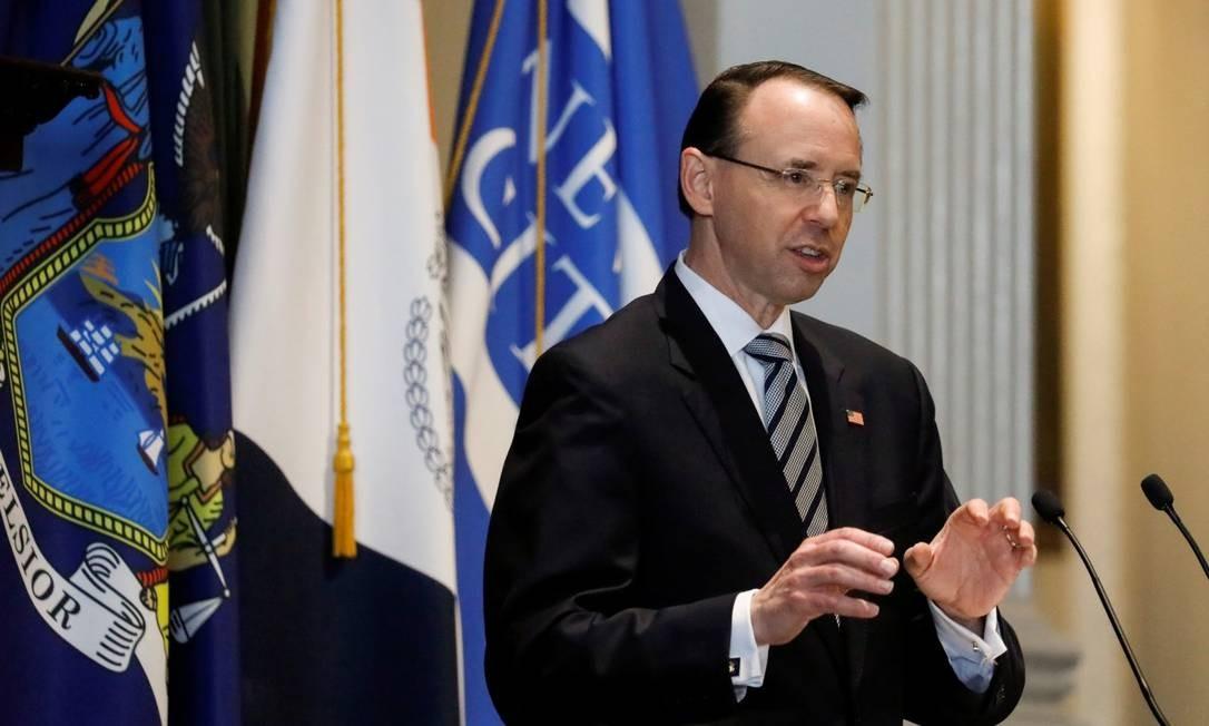 Rod Rosenstein: número 2 do Departamento de Justiça dos EUA deixa o cargo Foto: Shannon Stapleton / REUTERS