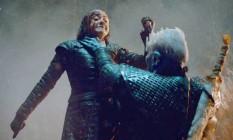 Arya usa a adaga de aço valiriano para matar o Rei da Noite Foto: Divulgação