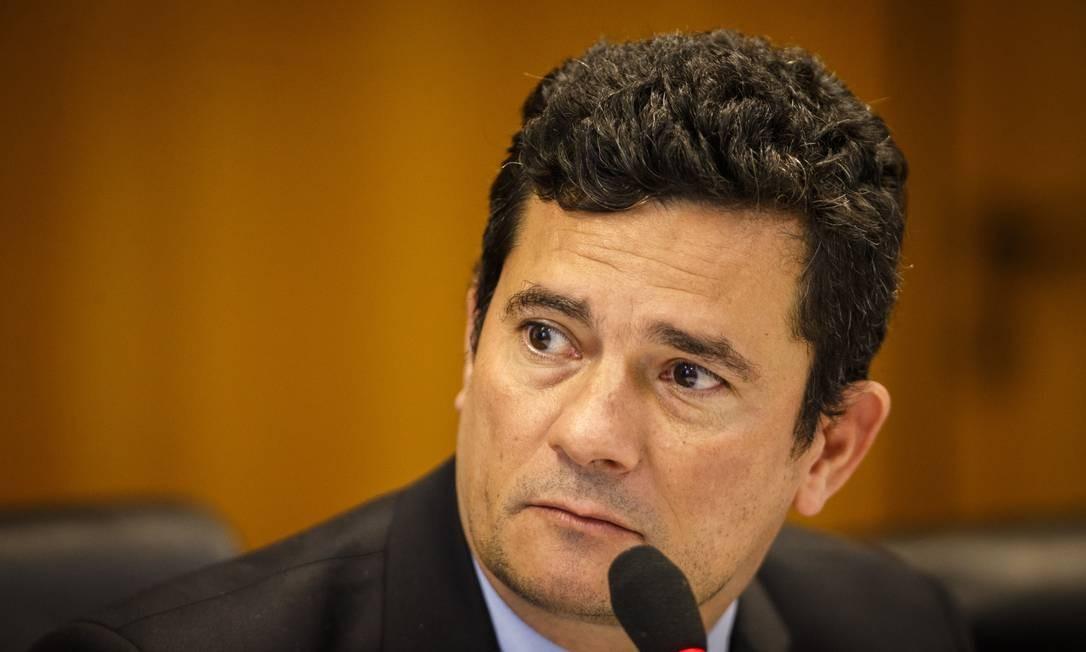 O ministro da Justiça Sergio Moro Foto: Daniel Marenco / Agência O Globo