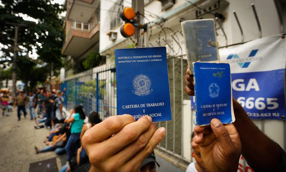 Brasil criou 644 mil empregos com carteira assinada em 2019, melhor resultado em seis anos, segundo dados do Caged Foto: Pablo Jacob / Agência O Globo