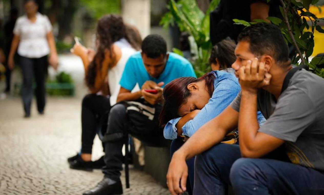 Em dezembro, o saldo de empregos foi negativo, como historicamente ocorre nesse mês do ano, já que número de demissões sobe nesta época por conta dos postos temporários de trabalho que são criados Foto: Pablo Jacob / Agência O Globo