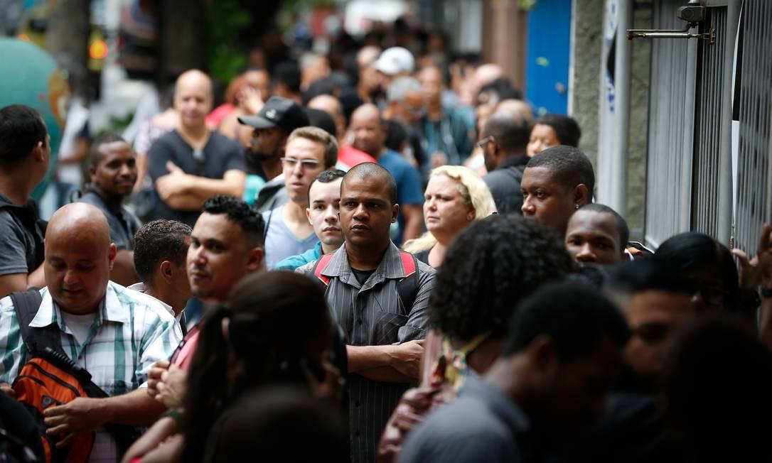 Foram registradas 16.197.094 contratações e 15.553.015 demissões no ano passado Foto: Pablo Jacob / Agência O Globo