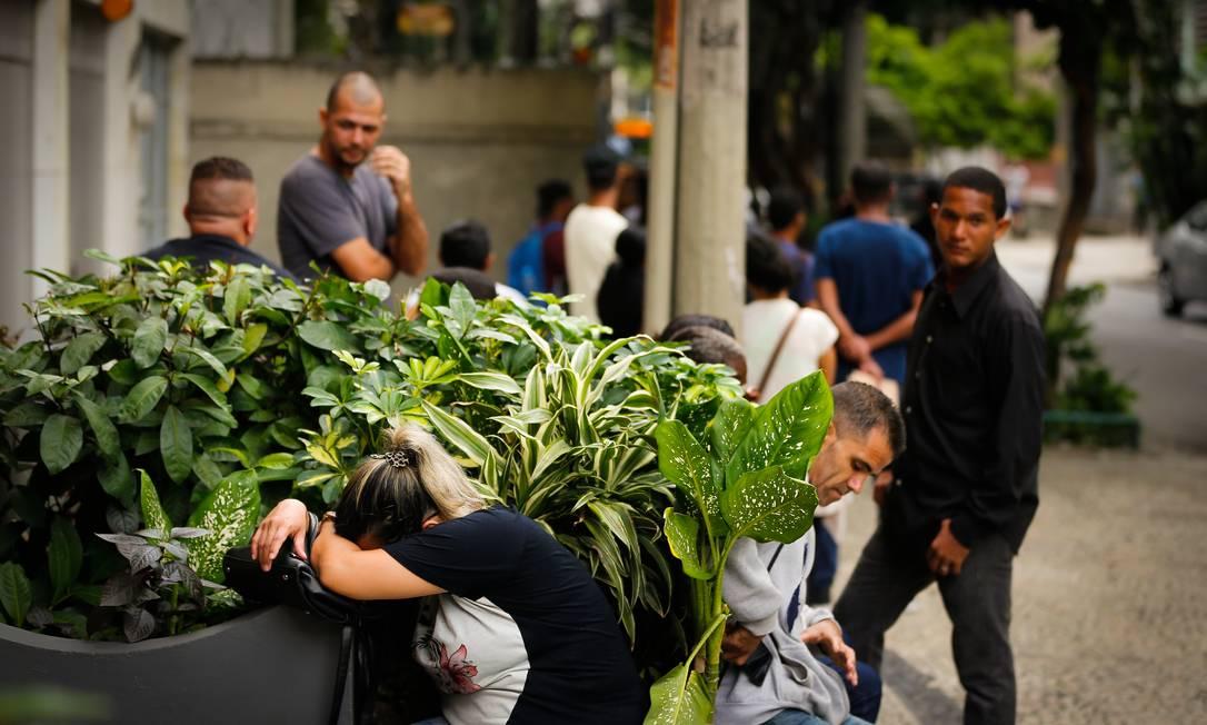 EC Rio de Janeiro (RJ) 30/04/2019 Fila de empregos no SINTTEL na Tijuca. Foto Pablo Jacob / Agencia O Globo Foto: Pablo Jacob / Agência O Globo