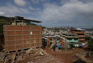 Prefeitura do Rio começa a demolir prédios ilegais na Muzema, região controlada por grupos paramilitares Foto: Divulgação da Prefeitura do Rio
