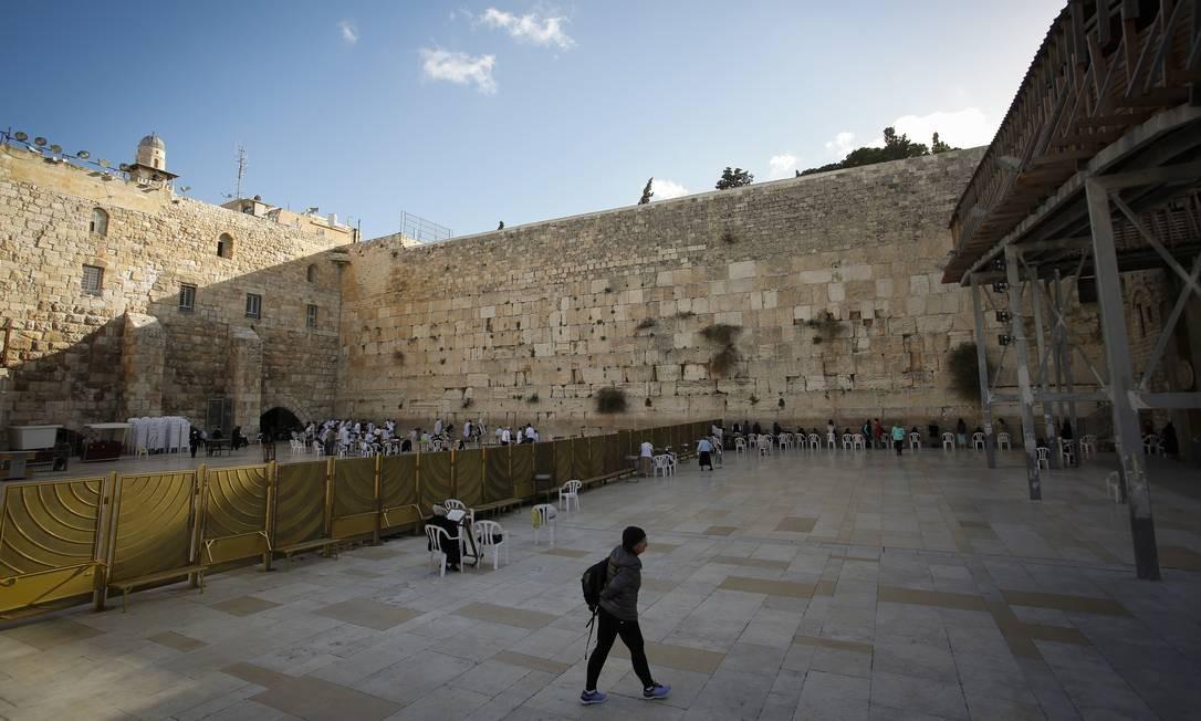 O Muro das Lamentações em Jerusalém Foto: Pablo Jacob / Agência O Globo