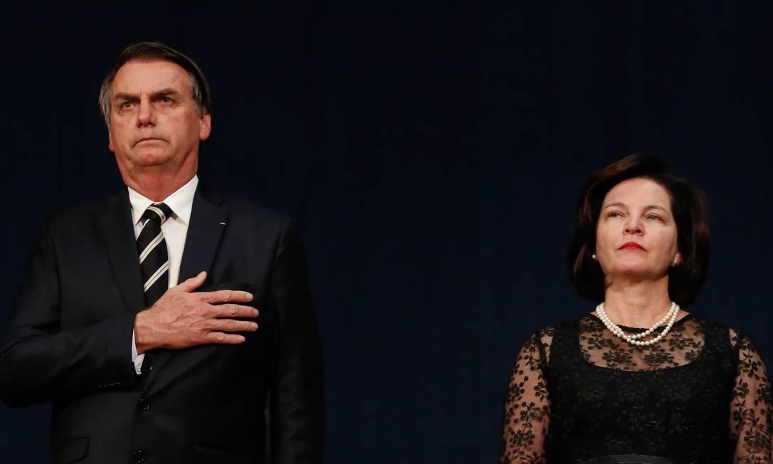 O presidente Jair Bolsonaro e a procuradora-geral da República Raquel Dodge Foto: Isac Nóbrega / Agência O Globo