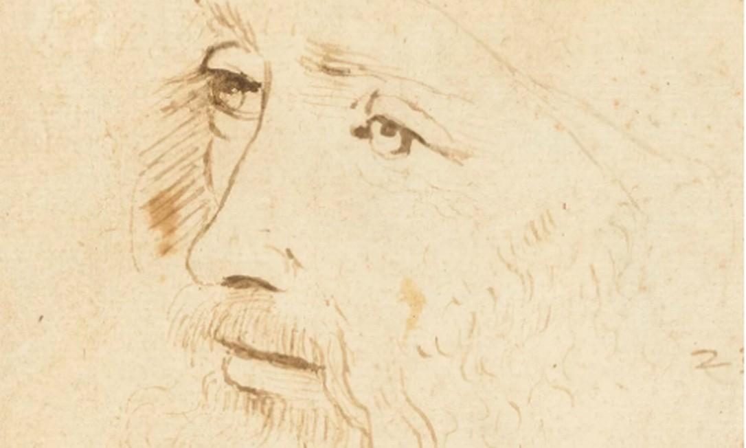 Esboço inédito de um retrato de Leonardo da Vinci Foto: Divulgação / Royal Collection Trust